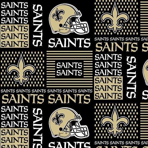 New Orlean Saints Patched. Saints. Saints Cotton Fabric