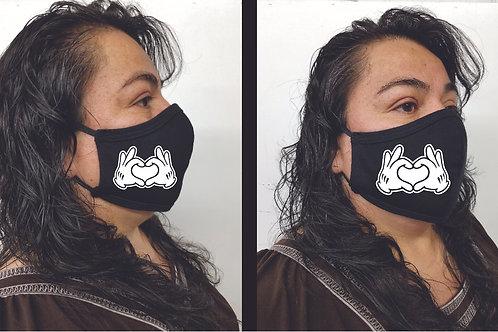 Black Mask (Mickey Heart) Face Mask
