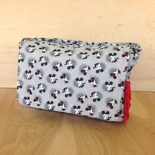 Diaper Bag/ Messenger Style/ Retro MIckey/ Red