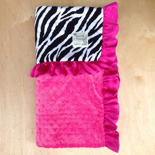 Receiving blanket  Zebra Hot Pink.Baby blanket zebra.