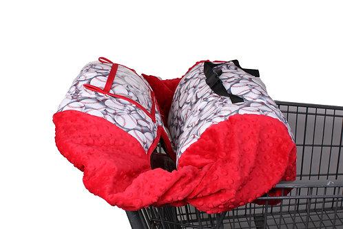 baseball shopping cart covers