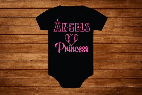 Pink Angels Onesies. MLB Angels. Anaheim Angels. Girl Angels. Angels Princess.