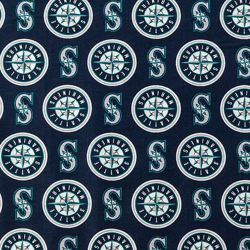 MLB Seattle Mariners Baseball Prints 100% Cotton Fabric