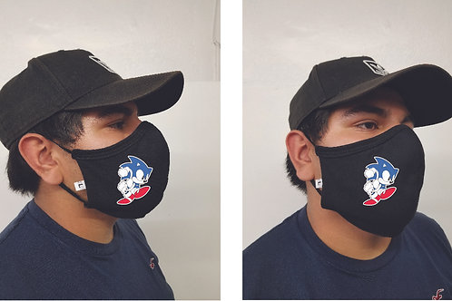 Black Mask (Sonic) Face Mask