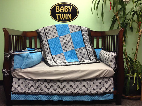 Crib set Skulls,Nursery Bedding Set,Skulls Crib set,Home & Living.