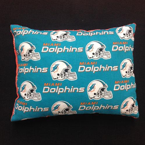Travel Memory foam Pillow- Miami Dolphins/ Orange