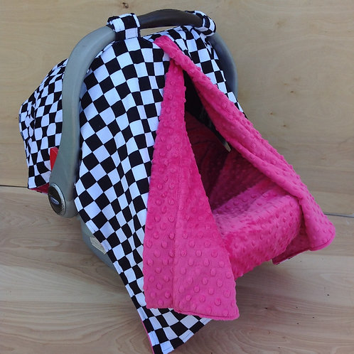 LG Checkers/ Hot Pink