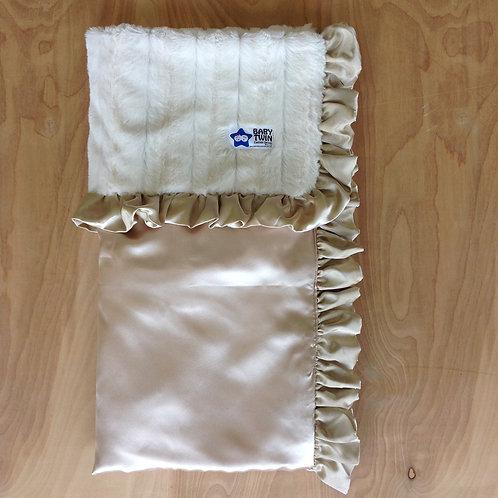 Baby blanket Ivory Bella,Receiving blanket Ivory ,Baby blanket,
