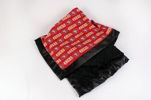 30x36 Baby Blanket. Nursery Blanket. Receiving Blanket. 49ers Blanket