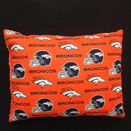 Travel Memory foam Pillow- Broncos/ Orange