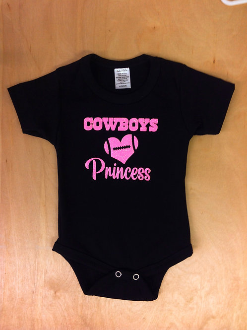 Girl Onesie- Cowboy Princess,Girl Cowboys,Pink cowboys,Bodysuit.