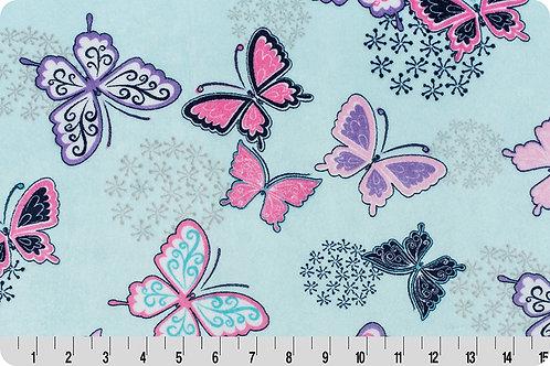 Lavender Butterfly. Butterfly. Butterfly Minky Fabric