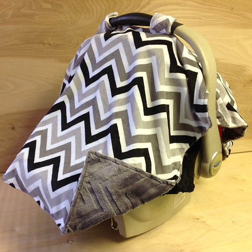 Blk/Wht/Gray Chevron/ Gray Embossed / CL