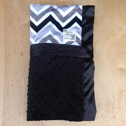 Receiving Blanket Black Chevron,Baby blanket chevron,Blanket chevron.