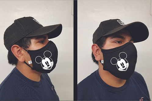 Black Mask (Mickey Mouse) Face Mask