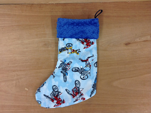 Christmas Stocking- Motorcross/ Blue * LIMITED TIME*
