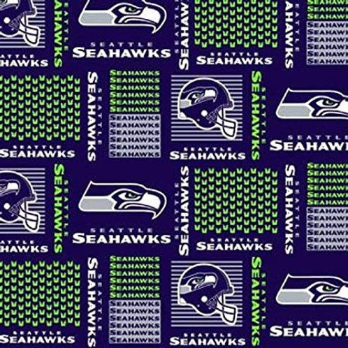 NFL Seattle Seahawks Football Print 100% Cotton Fabric