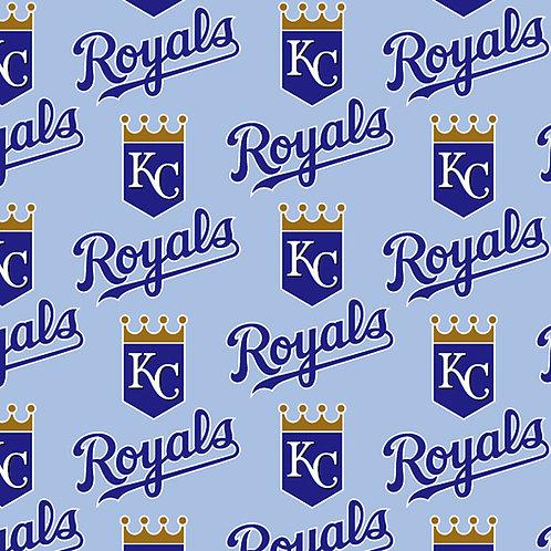 MLB Kansas City Royals Baseball Print 100% Cotton Fabric