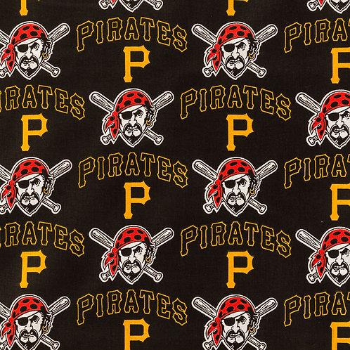 MLB Pittsburgh Pirates Baseball Print 100% Cotton Fabric
