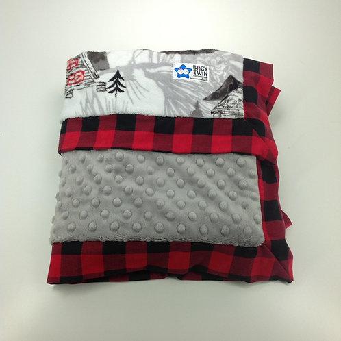 30x36 Baby Blanket- Lumberjack/ Red Flannel