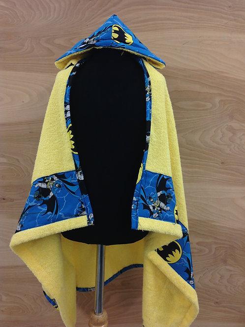 Hooded Towels- Retro Batman/ Yellow