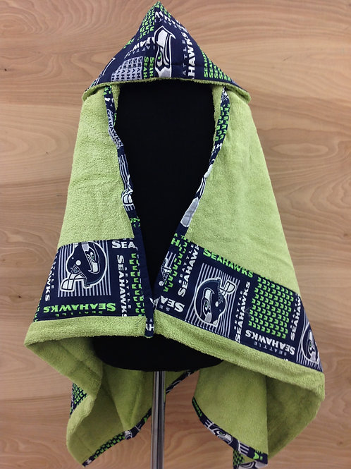 Hooded Towels- Seahawks/ Lime