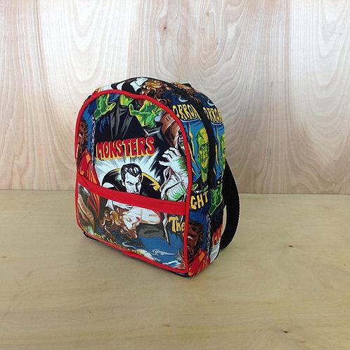 Kid's Mini Backpack - Monsters/ Red