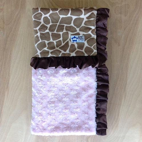 Baby blanket pink Jiraffe,Receiving Blanket Jiraffe.
