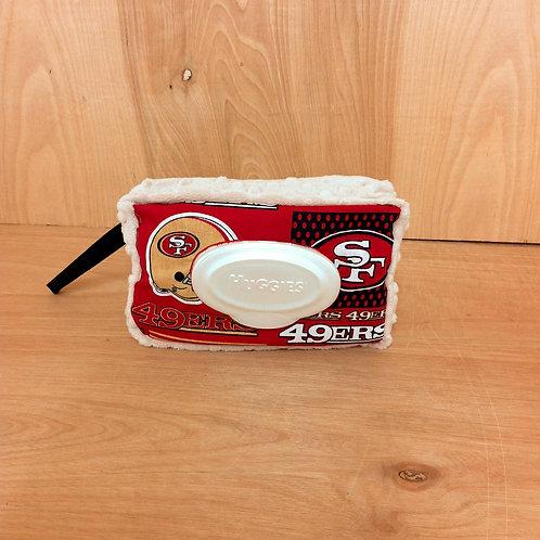 Wipe Case Covers-  49er's Striped/ Biege
