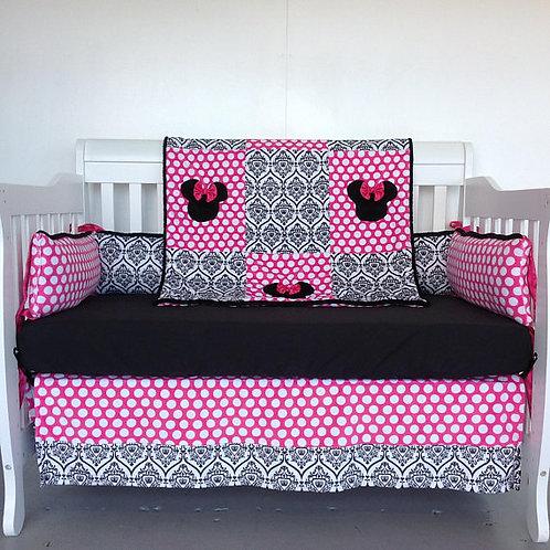 Crib set Minnie Mouse ,Nursery bedding Minnie Mouse,Home & Living.
