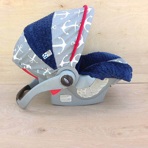 Grey Anchors/ Navy/ Red