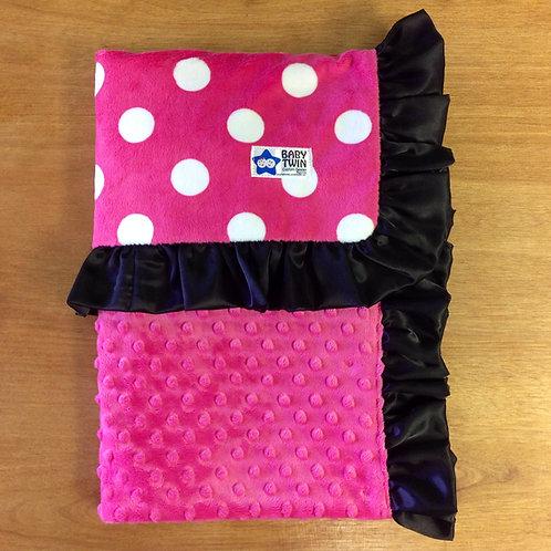 Baby Blanket minnie mouse,Receiving Blanket Polka Dot