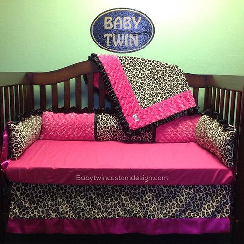 Cheetah Crib Set. Leopard Crib Set.Nursery Bedding,Home & Living.