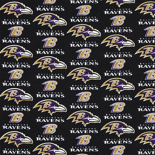 NFL Baltimore Ravens Football Print 100% Cotton Fabric