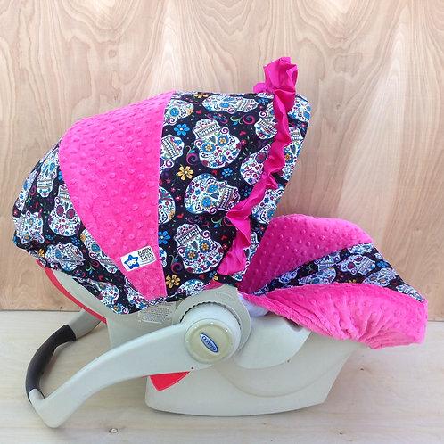 Flokoric Skulls/ Hot Pink