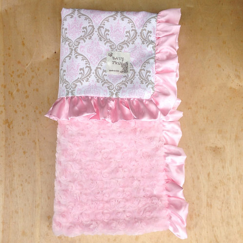 Receiving blanket Madison Cozy Bella , y Baby blanket Damask , Car seat blanket
