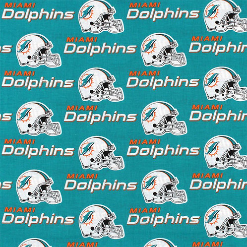 Miami Dolphins. Dolphins. Dolphins Cotton Fabric
