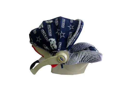 Infant Car Seat Cover- Dallas Cowboys Style #1