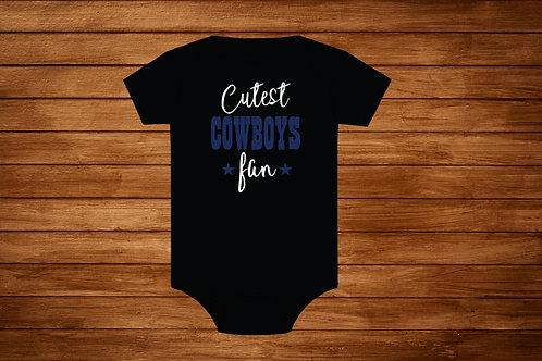 Onesie Cowboys Fan. Custom Onesie. Cowboys Onesie.Bodysuit.