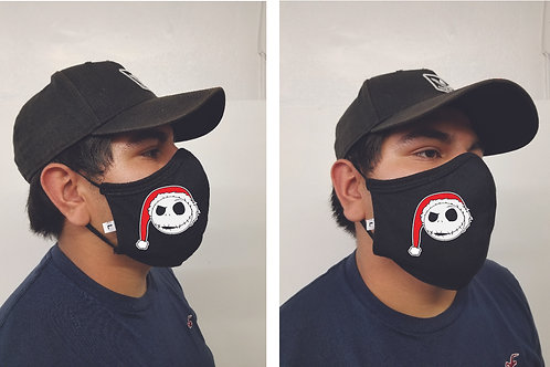 Black Mask (Jack Santa) Face Mask