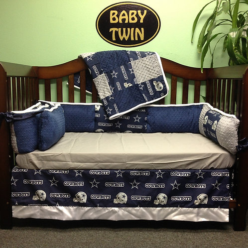 Crib Set Cowboys .Crib bedding Dallas Cowboys.Custom Dallas Cowboys Crib set.