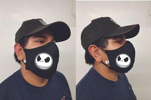 Black Mask (Jack Skellington) Face Mask
