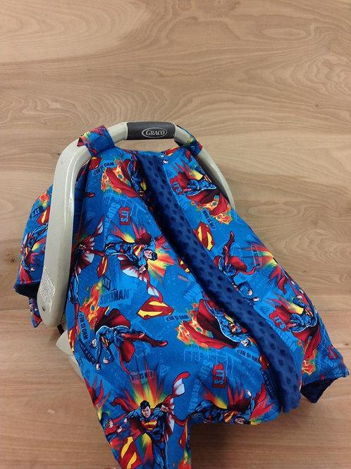 Canopy Blankets- Superman/ Navy