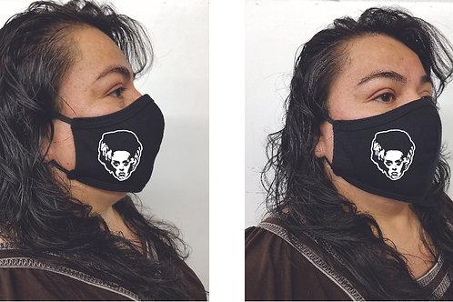 Black Mask (Bride of Frankestein) Face Mask