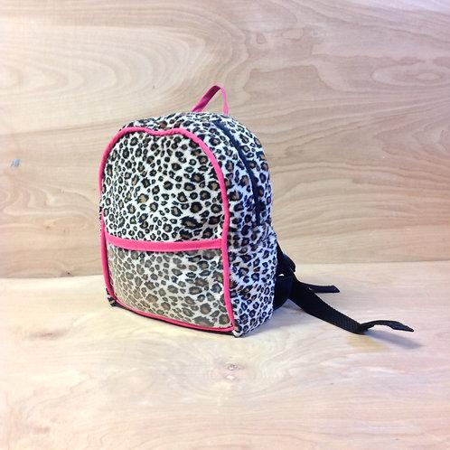Kid's Mini Backpack- Cheetah/ Fushcia