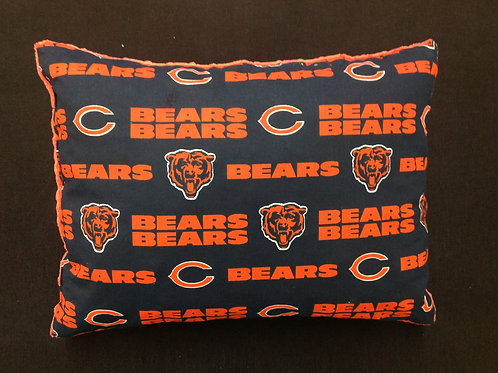 Travel Memory foam Pillow- Chicago Bears/ Orange