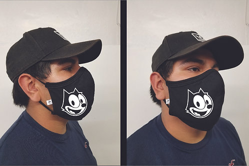 Black Mask (Felix the Cat) Face Mask