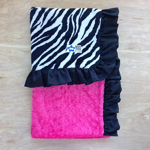 Black and White Zebra / Hot Pink