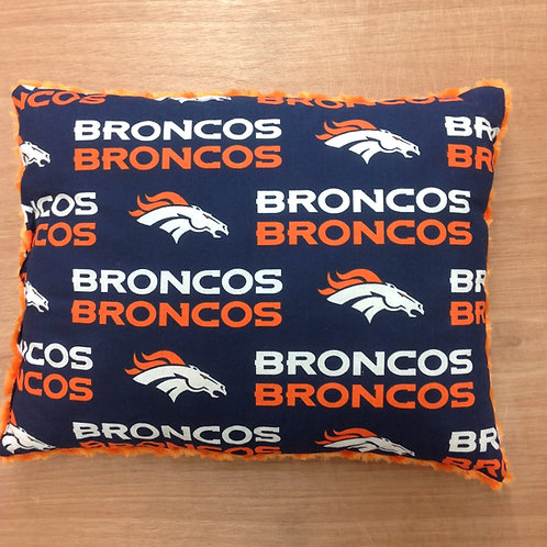 Travel Memory foam Pillow- Broncos/ Orange