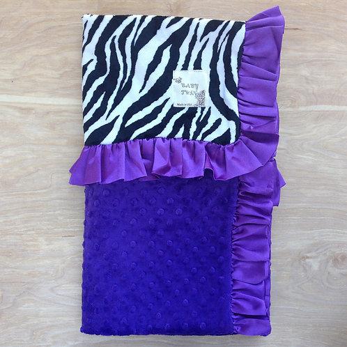 Receiving blanket Black White Zebra . Baby blanket zebra black .